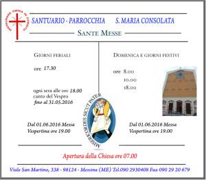 Orario Santa Messa